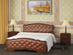 кровать карина 10 орех