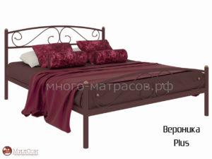 Кровать вероника plus (коричн)