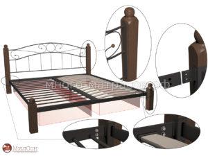 кровать в деталях и узлах