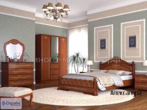 Кровать Александра орех