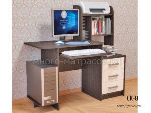 компьютерный стол ск-8 венге - молоч