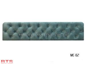 МС-02 мягкая спинка бирюза