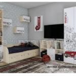 детская комната сенди, компоновка 1