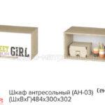 шкаф антресольный сенди ан-03 (дев)