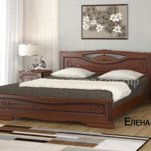 Кровать Елена 3 (орех)