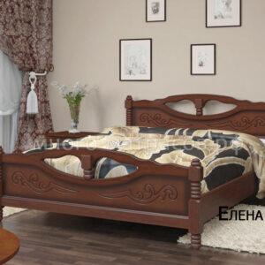 Кровать Елена 4 (орех)