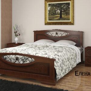Кровать Елена 5 (орех)