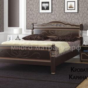 кровать карина 5 орех темный