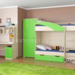 кровать радуга зеленый