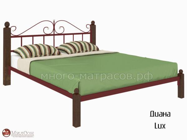 Кровать Диана Lux (красн)