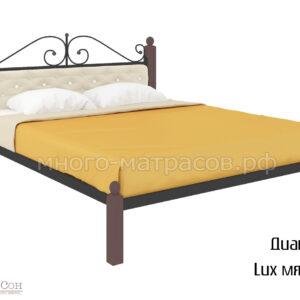 Кровать Диана Lux мягкая (черн)