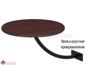 полка прикроватная милсон кор черн круглая