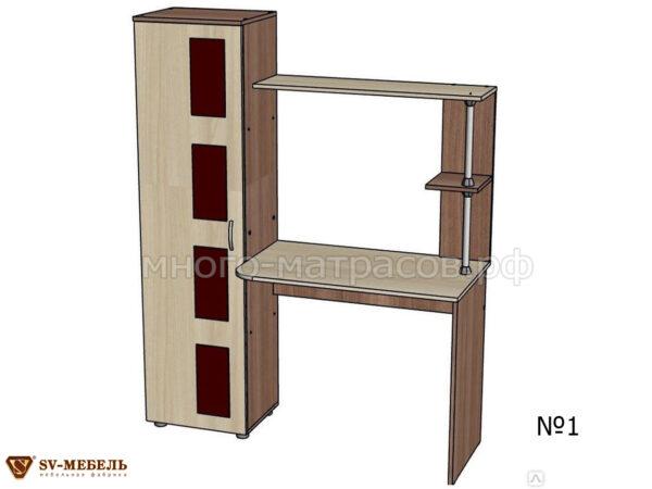 компьютерный стол №1 ясень шимо