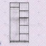шкаф 2-х створчатый схема