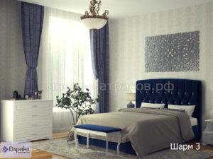 кровать шарм 3 синий