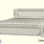 кровать сабрина 2 белая