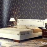 кровать сабрина 3 белый-серебро