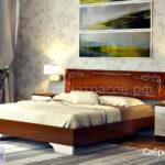 кровать сабрина 3 орех-золото