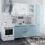 кухня бьянка голубая с пеналом