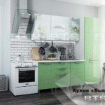 кухня бьянка зеленая с пеналом