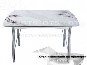 стол магнолия на мраморе