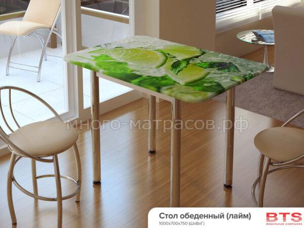 Стол обеденный с принтом (Лайм)