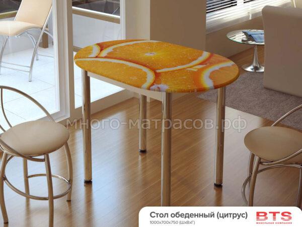 Стол обеденный с принтом (Цитрус)