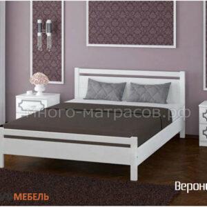 Кровать Вероника-1 дуб белый