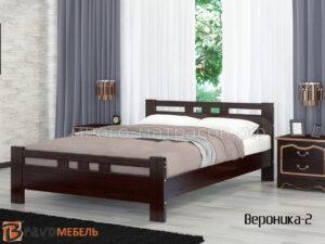 кровать вероника-2 орех темный