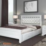 кровать грация античный белый с ящиками