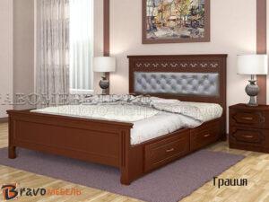 кровать грация орех с ящиками