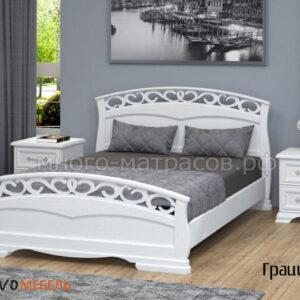 кровать грация-1 античный белый
