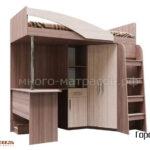 Кровать двухъярусная (комбинированная) Город