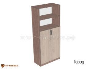 шкаф 2-створчатый с открытыми полками город