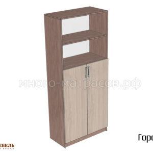 Шкаф двухстворчатый (с открытыми полками) Город
