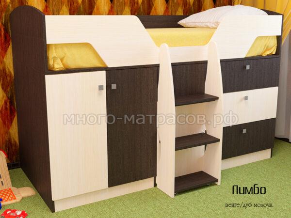 кровать лимбо венге - дуб молочный
