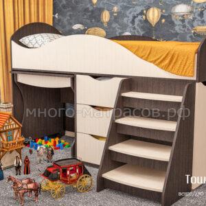 кровать тошка венге - дуб молочн