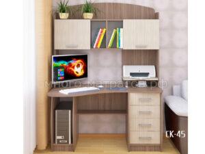 Стол компьютерный ск-45 ясень темный - светл