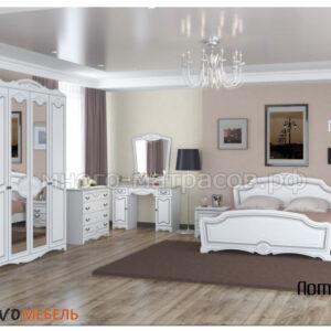 Спальный гарнитур Лотос (белый)