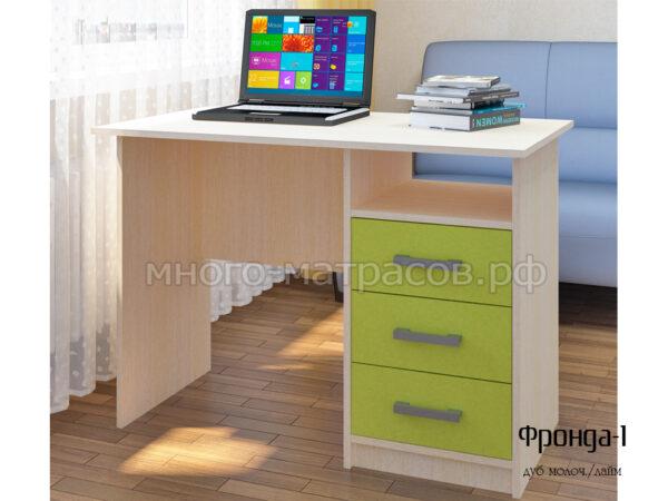 стол письменный фронда 1 дуб молочн - лайм
