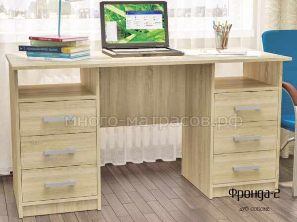стол письменный фронда 2 дуб сонома