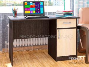 стол письменный фронда 3 венге - молочн