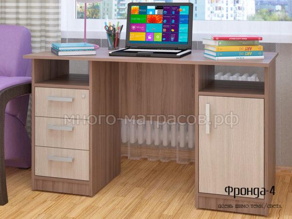стол письменный фронда 4 ясень шимо темный- светл