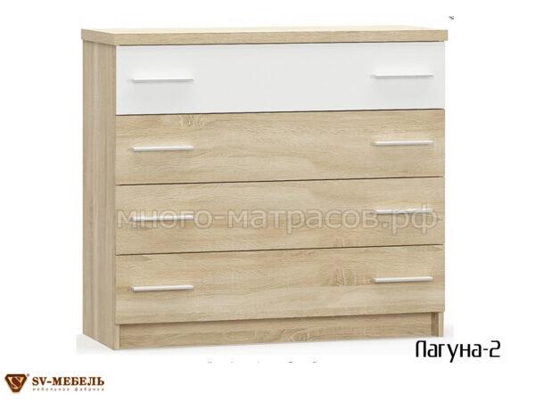 комод лагуна-2 4 ящика (бел)