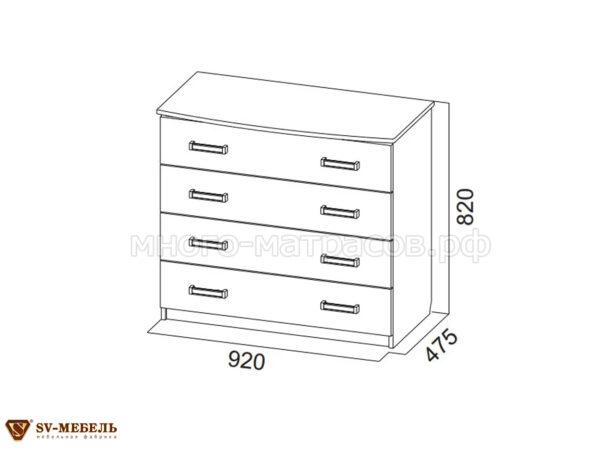 комод лагуна-2 4 ящика схема