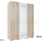 шкаф 3-х дверный лагуна-2 (бел)