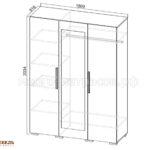 шкаф 3-х дверный лагуна-2 схема