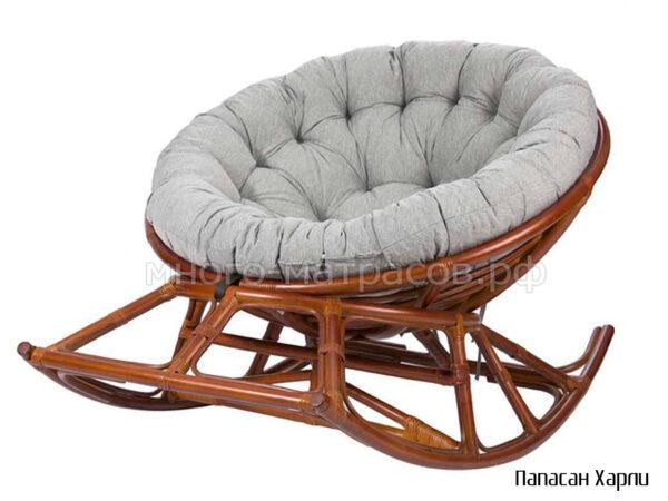 Кресло-качалка Папасан Харли на полозьях 115х119 см