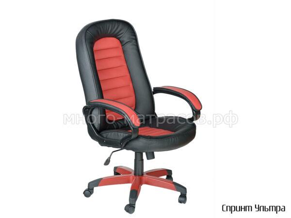 кресло руководителя спринт ультра черно красный