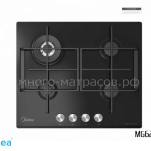 Варочная поверхность газовая Midea MG621TGB Черное стекло